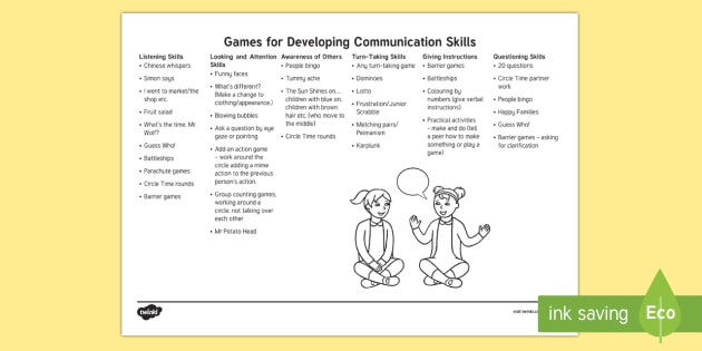 Games For Developing Communication Skills Adult Guidance - SEN Resources, Special Educational Needs, Communication Skills, Expressive Language Skills, Receptiv