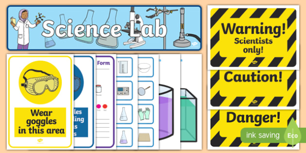 Science Lab Role Play Pack - laboratory, scientist, science, role play, pack, play, professor, experiment, bottle, chemistry, chemicals