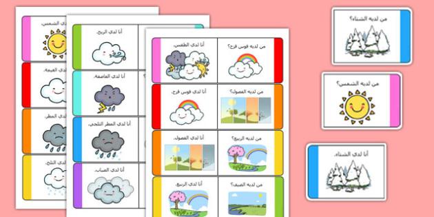بطاقات عن الطقس - الطقس، وسائل تعليمية، موارد تعليمية