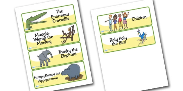 Word Cards to Support Teaching on The Enormous Crocodile - the enormous crocodile word cards, the enormous crocodile, word cards, the enormous crocodile keywords