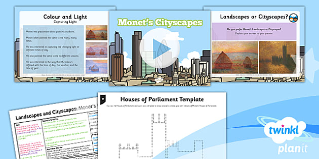 Art and Design: Landscapes and Cityscapes: Monet's Cityscapes KS1 Lesson Pack 2