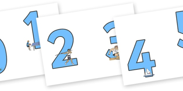 The Olympics Sports Events Display Numbers - Olympics, Olympic Games, sports, Olympic, London, 2012, Display numbers, numbers, display numerals, display lettering, display numbers, display, cut out lettering, lettering for display, display numbers, a