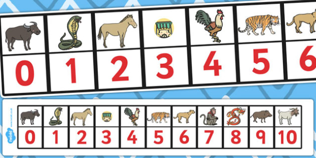 Chinese New Year Story Number Track 0-10 - number track, chinese