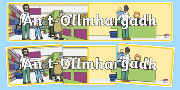 The Supermarket Role-Play Display Banner Gaeilge