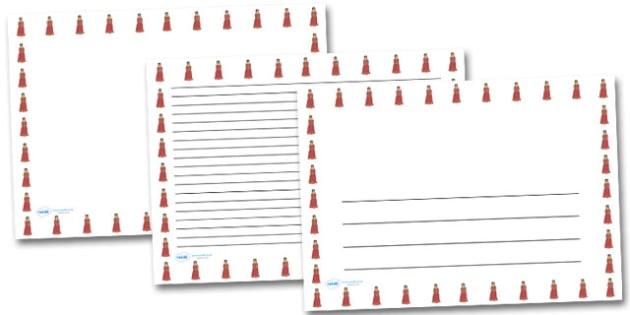 Princess Landscape Page Borders- Landscape Page Borders - Page border, border, writing template, writing aid, writing frame, a4 border, template, templates, landscape