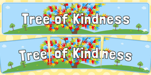 Tree of Kindness Display Banner - tree, kindness, display banner