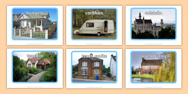 Types of Home Display Photos Gaeilge  - Irish