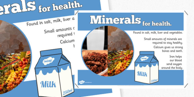 Year 6 Minerals Nutrients Display Poster - healhty eating, food