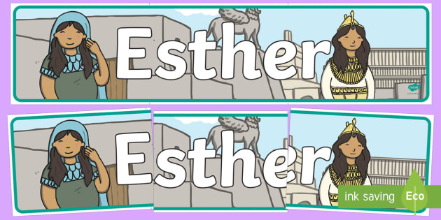 Esther Display Banner - bible story, display, banner, religion