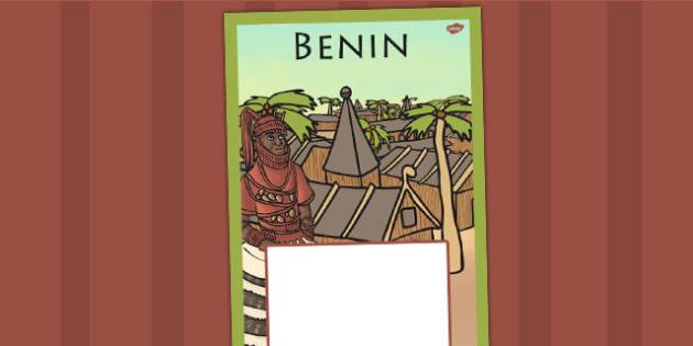Benin Book Cover - benin, folder cover, history, ks2, books