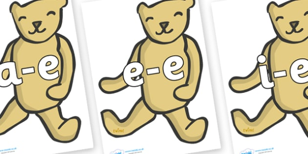 Modifying E Letters on Old Teddy Bears - Modifying E, letters, modify, Phase 5, Phase five, alternative spellings for phonemes, DfES letters and Sounds