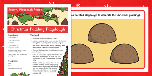 Christmas Pudding Sensory Playdough Recipe - christmas, pudding, sensory, playdough, recipe