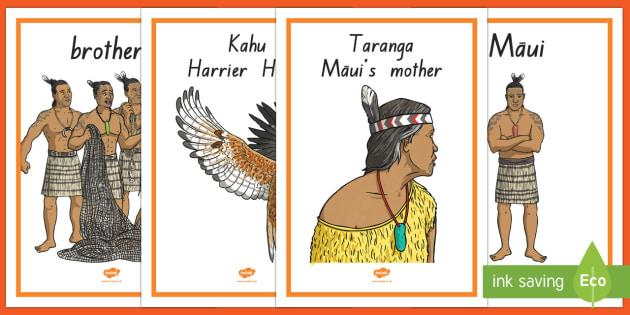 Māui Myth Display Posters - Maui Myths Maori legends