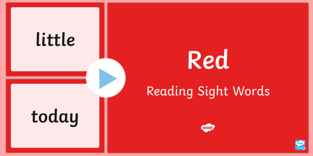 New Zealand Red Reading Sight Words PowerPoint