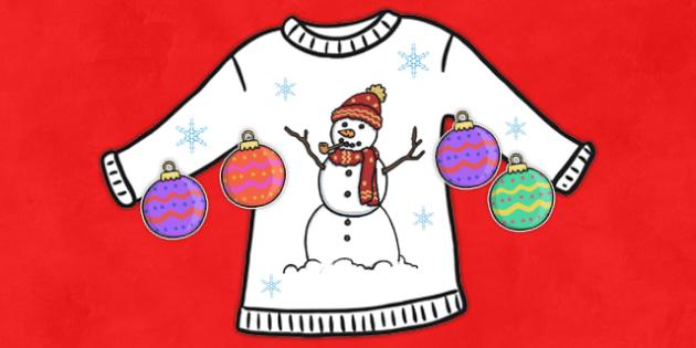 Christmas Jumper Design Cut and Stick Activity Sheet - christmas, worksheet