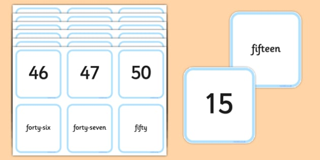 Number Snap Numerals and Number Words 0-50 - number snap, numerals, number words, 0-50