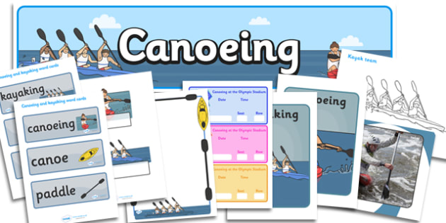 The Olympics Canoeing Resource Pack - Canoeing, Olympics, Olympic Games, sports, Olympic, London, 2012, resource pack, pack resources, activity, Olympic torch, events, flag, countries, medal, Olympic Rings, mascots, flame, compete