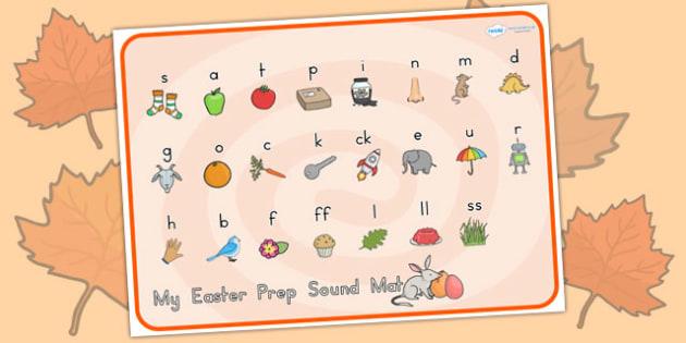 Easter Prep Sound Mat - easter, prep, sound mat, prep sounds