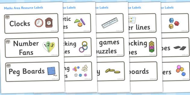 Elephant Themed Editable Maths Area Resource Labels - Themed maths resource labels, maths area resources, Label template, Resource Label, Name Labels, Editable Labels, Drawer Labels, KS1 Labels, Foundation Labels, Foundation Stage Labels, Teaching La
