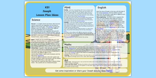 Joseph Lesson Plan Ideas KS1 - joseph, lesson plan, KS1, ideas