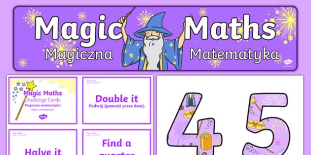 Magic Maths Challenge Pack Polish Translation - polish, magic maths, challenge cards, maths, magic, activity