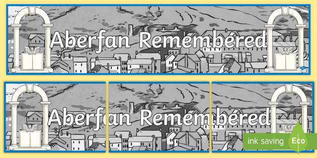 Aberfan Remembered Display Banner