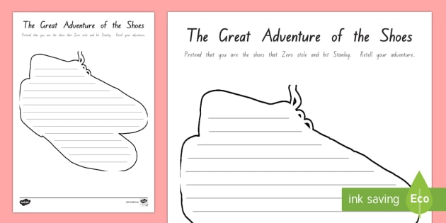 The Stolen Shoes Adventure Writing Activity Sheet - New Zealand Chapter Chat, Chapter Chat NZ, Chapter Chat, Holes, Years 5 and 6, Writing, Stanley, Zer