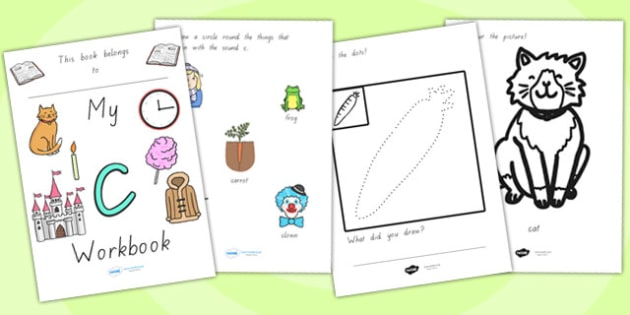 My Workbook C Lowercase - letter formation, writing, tracing