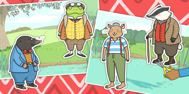 The Wind in the Willows Story Cut Outs - The Wind in the Willows