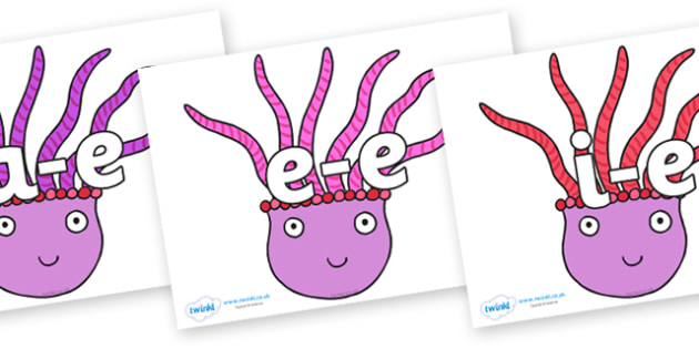 Modifying E Letters on Anemone - Modifying E, letters, modify, Phase 5, Phase five, alternative spellings for phonemes, DfES letters and Sounds