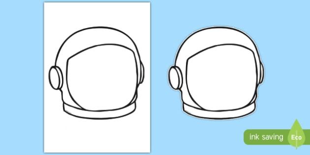 Spaceman Face Helmet Template