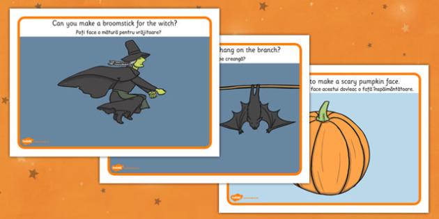 Halloween Playdough Mat Romanian Translation - romanian, halloween, hallowe'en, playdough, mat