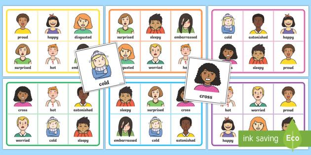 Mindful Me: Emotions Bingo - Mindfulness, emotions, happy, sad, emotional, asd, asc, autism, spectrum condition, social interacti