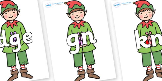 Silent Letters on Green Elf (Boy) - Silent Letters, silent letter, letter blend, consonant, consonants, digraph, trigraph, A-Z letters, literacy, alphabet, letters, alternative sounds