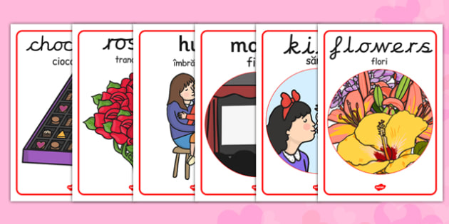 Valentine's Day Display Poster EAL Romanian Translation - romanian