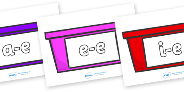 Modifying E Letters on Trays - Modifying E, letters, modify, Phase 5, Phase five, alternative spellings for phonemes, DfES letters and Sounds