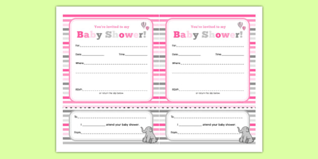Baby Shower Invitation Pink Themed - baby shower, baby, shower, newborn, pregnancy, new parents, invitation