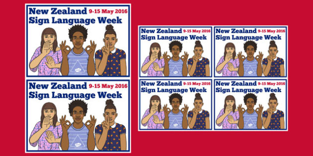 New Zealand Sign Language Week Cards - nz, new zealand, sign language, new zealand sign language week, cards