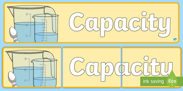 Capacity Display Banner - displays, banners, measure, visual aid