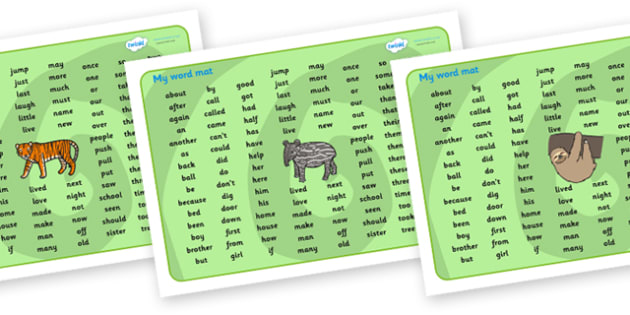 Jungle KS1 Sound Mat - KS1, Sound mat, ks1 soundmat, jungle themed ks1 soundmat, jungle themed soundmat, ks1 jungle themed