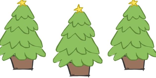 Decorated Christmas Trees Editable - christmas, display, editable