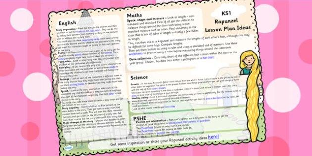 Rapunzel Lesson Plan Ideas KS1 - rapunzel, lesson plan, KS1