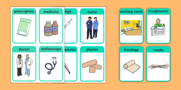 Doctor's Surgery Flash Cards - doctors, people who help us, doctors surgery, flash cards, flashcards