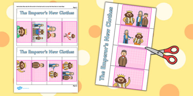 The Emperors New Clothes Story Writing Flap Book - flap book