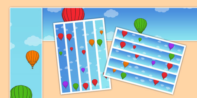Hot Air Balloons Display Borders