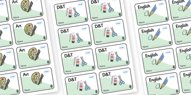 Opal Themed Editable Book Labels - Themed Book label, label, subject labels, exercise book, workbook labels, textbook labels