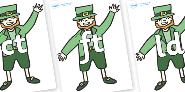 Final Letter Blends on Leprechauns - Final Letters, final letter, letter blend, letter blends, consonant, consonants, digraph, trigraph, literacy, alphabet, letters, foundation stage literacy