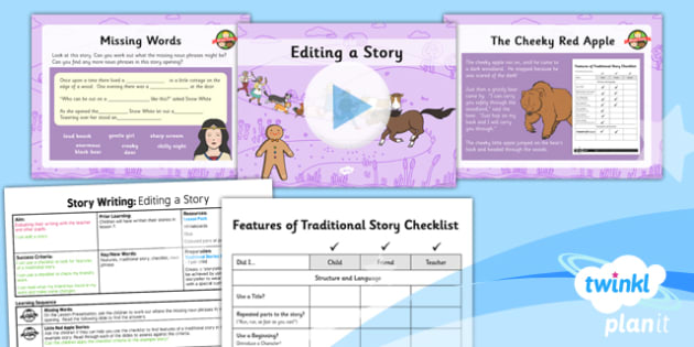 PlanIt Y2 The Gingerbread Man Lesson Pack Story Writing (3) - traditional stories, traditional tales, composition, transcription, description