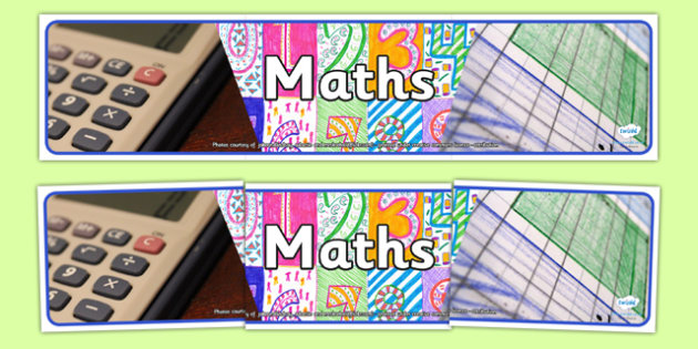 Maths Photo Display Banner - math, photo display banner, display banner, display, banner, photo banner, header, display header, photo header, photo, numeracy