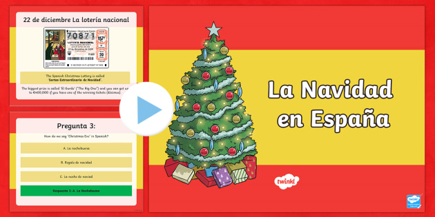 Christmas in Spain Information and Quiz PowerPoint - Christmas Spain, powerpoint, navidad, quiz, information